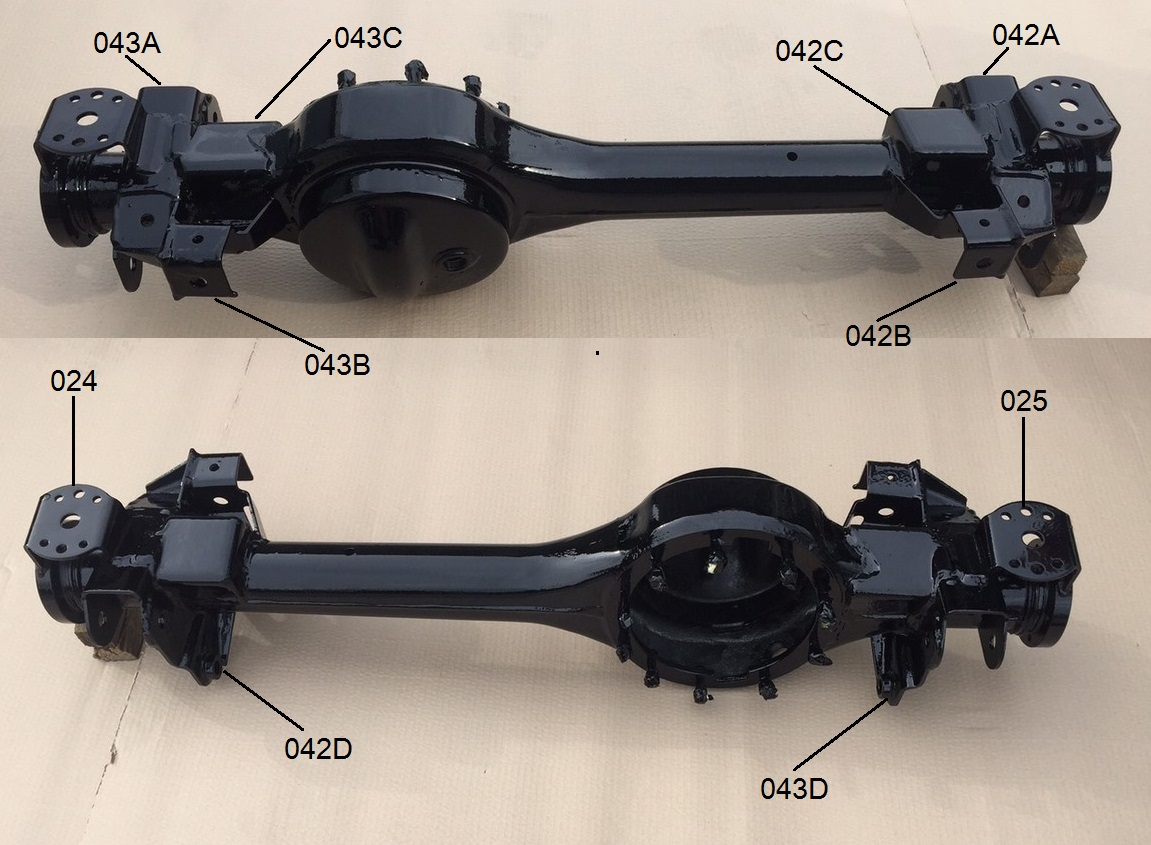 Yrm Parts Directory - Defender  D1  Rrc Front Axle