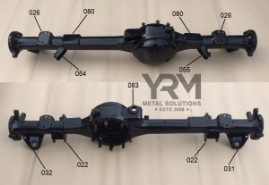 YRM Rear Axle Diagram