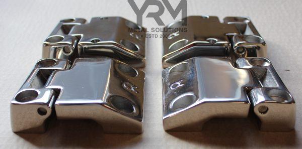 Stainless Steel Front Row Door Hinges Yrm Metal Solutions